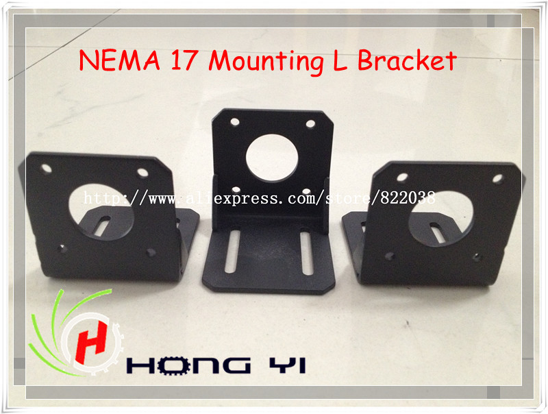 NEW 10Pcs NEMA 17 Mounting L Bracket Mount Step Stepping Stepper Motor(China (Mainland))