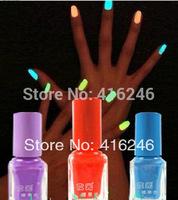 Hot Sale Eco-friendly Luminous Nail Polish nail art, Fluorescent nail enamel,Free Shipping