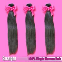 Top Grade 3 piece/lot Russian Straight Virgin Human Hair Extensions Free Shipping Virgin Russian Straight Hair