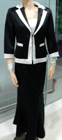 Free shipping!lady's skirt suits (three in one)! business suits  black lady's suits long skirt suits150