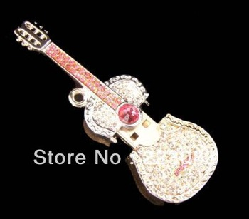 Beautiful Cute Gift 4GB 8GB 16GB 32GB CRYSTAL GUITAR NECKLACE USB FLASH MEMORY STICK PEN THUMB DRIVE