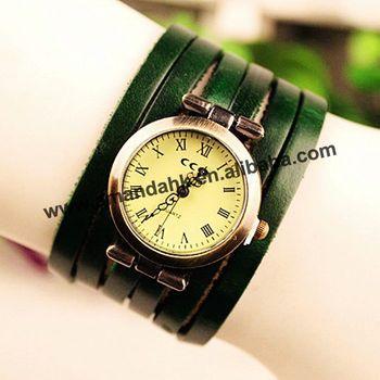 10% OFF!97pcs/lot wrap braided watch,5 colors, fashion lady weave wristwatch