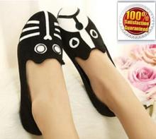 WOMEN Free Shipping 2014 MJ Dog Cat Flats, Sapatilhas Women's Flat Shoes Alpargatas Loafers Casual Cartoon Suede Flats Shoes(China (Mainland))