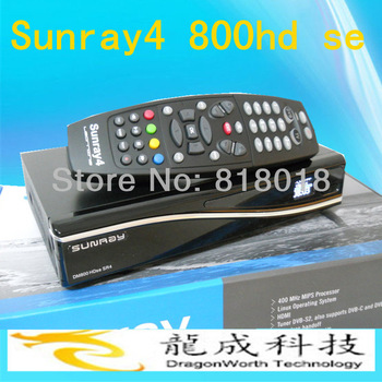 3pieces /lot Sunray4 dm 800hd se Sr4 with Triple tuner DVB/S(S2)/C/T +300Mbps WIFI Free shipping