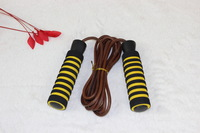 Cow leather Hot Wholesale Intelligent CALORIE 3M Digital Skipping Jump Rope Counter Timer LCD Count rope skipping Free Shipping