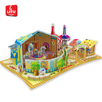 LITU 3D PUZZLE/JIGSAW PUZZLE/TOYS/PLAYING/PERFORMANCE_having funs_circus  Style No.5444