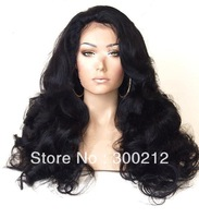 130%-150% density in stock 20 inch 1b# super wave (color 1# 1b# 2# 4# 6#) 100%virgin brazilian human hair full lace wig hot sale