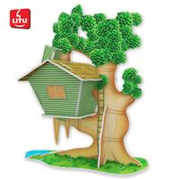 LITU 3D PUZZLE/TOYS/JIGSAW PUZZLE_having funs_seasons houses  Style No.2011