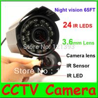 4pcs/lot 1/3''CMOS/480TVL/24 IR LEDs CCTV Outdoor Security Camera Weatherproof Day Night Vision Surveillance Camera