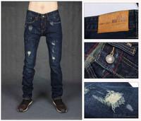 28-36#KPDSQ0868,2013 Fashion Famous Brand D2 Jeans Men,High Quality Ripped Jeans For Men,Dark Color Cotton Denim True Jeans Men