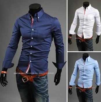 2014 autumn fashion turn down collar men's cotton business casual polo shirts long sleeve small flower dress shirt free shipping