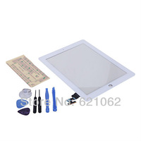 Touch Screen For iPad 2 Glass Digitizer Replacement + Adhesive Glue Tape 3M With 7 Pieces Tool Free Shipping