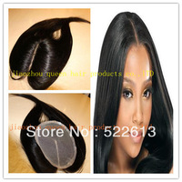 Grade5A Brazilian virgin human hair 4*4 lace closure silky straight clear middle partiing#1#1b#2 #3#4in stock !!!Free shipping