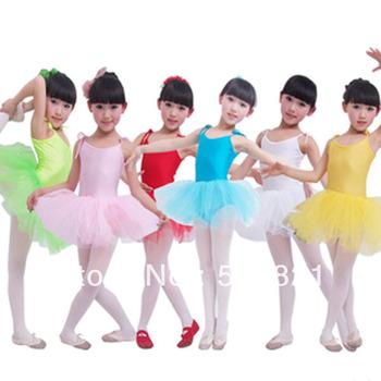 Дети танец тюль платье балета девушки подтяжк платье фитнес-одежды износостойкость купальник костюм бесплатная прямая поставка