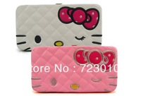 Fashion Hello Kitty Long Wallet / Hello Kitty purse/brand wallets for women 2013/cartoon wallet white and pink wholesale retail