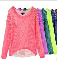 Free shipping new women's European and American long-sleeved Knit  ana sweater bottoming