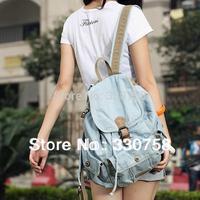 Free Shipping Denim Bags For Teenage Girls Student Drawstring School Bag Fashion Nostalgia Route Women Handbag Mochilas
