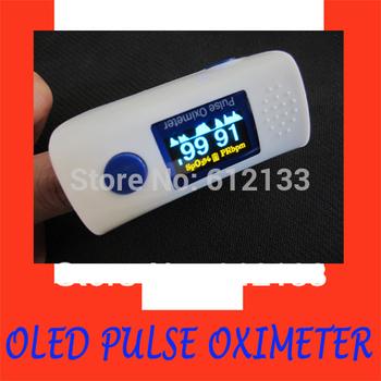 one piece Pulse Oximeter Fingertip Oximeter OLED Display SPO2 Monitor Visual Alarm