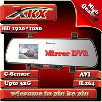 New Arrival X11 Rearview Mirror Full HD1920x1080P 25FPS Car DVR Recorder Camera Video Night Vision Black Box FreeShipping
