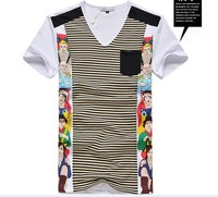 Free shipping 2013 New Mens T Shirt +Men designer t shirt ,mens fashion shirt ,cotton,v neck shirt designers