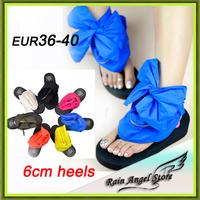 2014 New Solid Color Zip Bandage Dtraps Wedges Platform Flip Flops Shoes Women Platform Sandals Rubber Sole Size 35-40