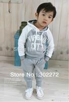 Hot sale! 2014 New Baby boy's/girl's Sports Set 2pcs sport clothing set ,baby wear Kids Suit,(1 set/lot)