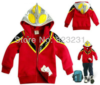 Retail 1pc, Kids Hooded Coat, Baby Jacket, Children Cartoon Garment,,very thick cotton,Spring Autumn and Winter,Y3-Y4