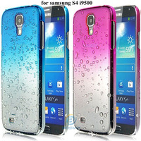 2013 new arrival luxury crystal hard cover for samsung galaxy s4 case i9500 fashion waterdrop back housing 1piece free shipping