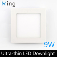 Ultra thin design 9W LED ceiling recessed grid downlight / square panel light 145mm, 1pc/lot free shipping