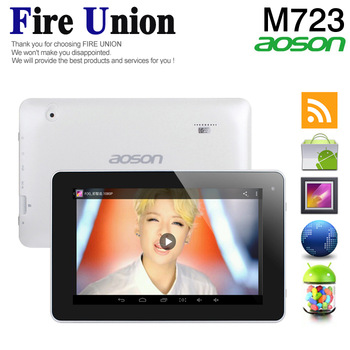 200pcs In Stock ! Aoson 7''M723 Tablet PC 1GB/8GB Android4.2.2 ATM7029 Quad Core 1.5GHz Dual Cameras play store English Version