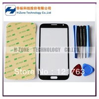 Freeshipping Titanium Grey Front Outer Glass Lens Screen For Samsung Galaxy Note II N7100 Replacement +Tools+Adhesive