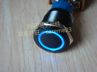 19mm metal push button switch,latching type and momentary type,car angel eyes switch,12V LED,car modification switch