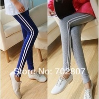9color Free shipping New woman vertical stripes leggings Slim was thin stretch leggings