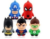 Welcome Mix Superhero USB Drive, Cartoon batman / spiderman / hulk / capitan america USB flash drive, free shipping