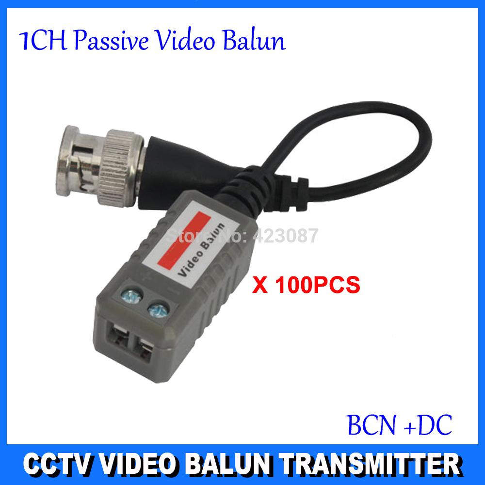 100x Twisted BNC CCTV Video Balun Passive Transceivers UTP Balun BNC Cat5 CCTV UTP Video Balun up to 3000ft Range DS-UP0114(China (Mainland))