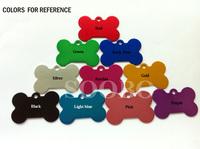 Top selling 10colors / 500pcs /lot ,38*25*1mm Bone Tag/ Pet id tag / dog tags ,Aluminum Alloy Material,free shipping