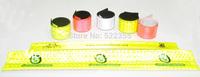 Wholesale 500pcs/lot, 30CMx3CM,Reflective Wristband,slap band slap wrap,Bracelet,Customized logo available