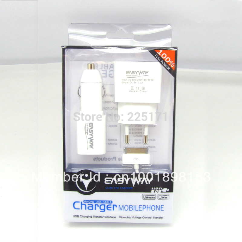 Power Adaptor(1USB)&Car Charger (1USB) Mixed package(China (Mainland))