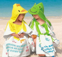 Retail 1pc,Child lovely Cartoon towel beach bathrobe, 100% cotton towel bathrobe, baby cloak bathrobes,Free Shipping,P4