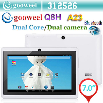 Gooweel Q8H 7inch A23 android 4.2.2 tablet pc+keyboard case+PU case+Car charger +screen Flim/Stylus FreeShipping