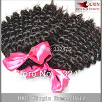 6A Queen hair Wholesale New star 100% Peruvian virgin hair weaving/weft kinky curl human hair  DHL free shipping