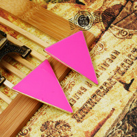 Exaggerated 4 Colors Triangle Rivets Drip  zircon Stud earrings wedding decoration jewelry (Min.order is $10 mix order)
