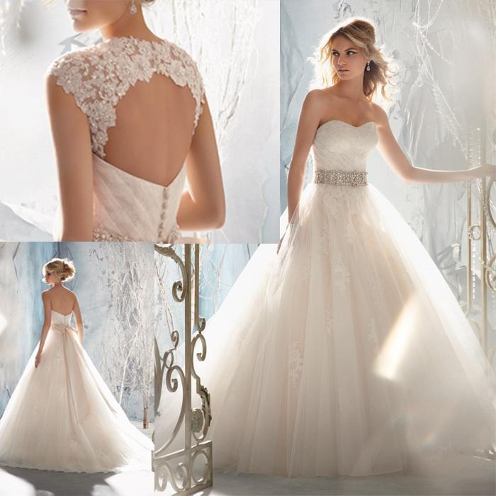 New Fashion A Line Sweetheart Beading Belt Remove Jacket Keyhole Back Tulle Wedding Dress Gowns 2014 jet wu Manufacturer Store(China (Mainland))