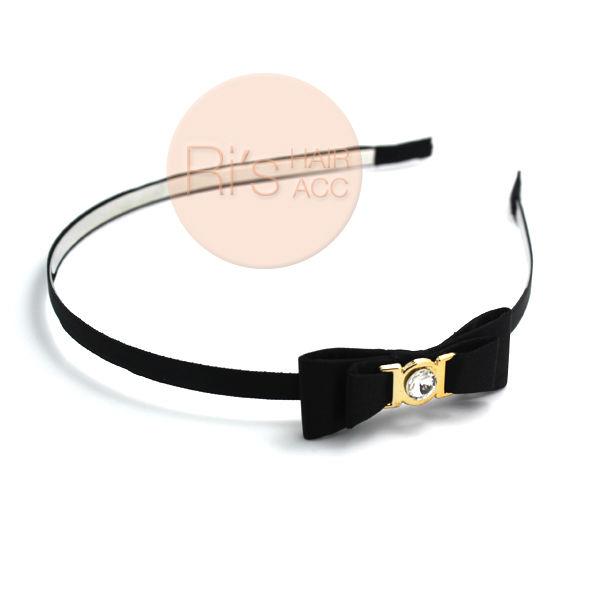 RETAIL Black Silk satin headband for women Ribbon Bowknot Headwear, Bow Headbands,Hair Accessories(China (Mainland))