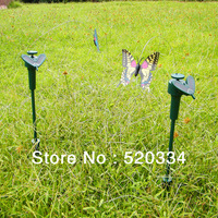 2013 New Wholesale 10 pcs/lot Solar Power Dancing Flying Fluttering Butterflies Garden Yard Decor,Funny Kids Toy Free shipping
