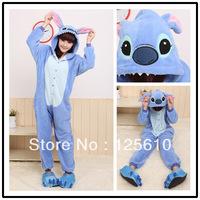 Fleece Warm Pyjamas Animal suits Coral fleece stitch Soft Audlt Sleepwear play Costume unisex pyjamas by00016 Stitch Nightwear