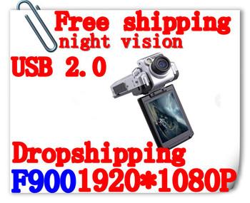1Pcs Free Gift+2014 HOT! Car Dvr 1080P F900 Car Dvr 2.5'' LCD Night Vision Car Black Box Support Russian Language(H-04C)