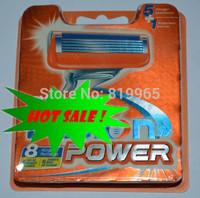 Free Shipping Hot Brand 8pcs For 1pack Razor Blade Men Sharpener Shaving Razors Blades Series Retail Packaging (8pcs = 1lot)