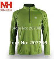 New Men T-Shirt Mandarin Collar Quick Dry Long Sleeve Breathable Soft Male Sport T-Shirts Zipper Men's Suit Jerseys X-XXL Hiking