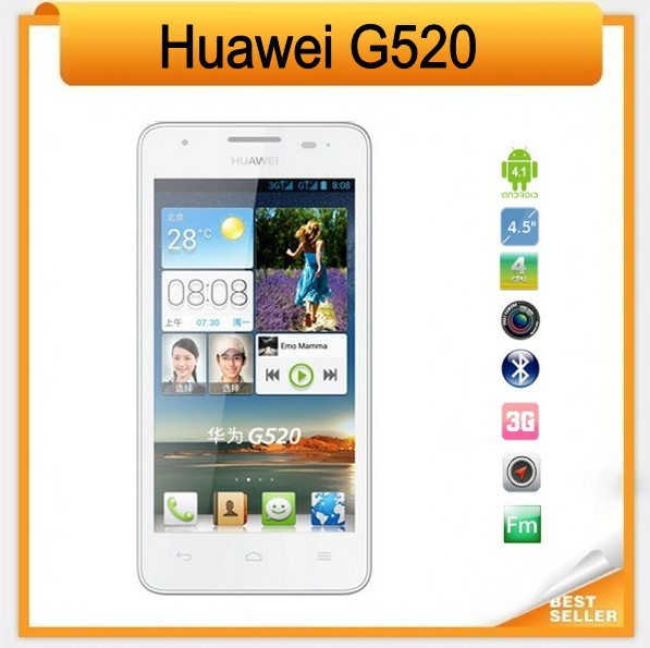 Original Huawei G520 Quad Core Cell Phone Dual Cards Dual Mode 4.5 inch Screen + 4GB ROM Free Shipping(China (Mainland))